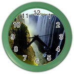 Victoria Falls Zambia Color Wall Clock