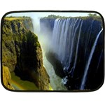 Victoria Falls Zambia Mini Fleece Blanket(Two Sides)