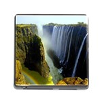 Victoria Falls Zambia Memory Card Reader with Storage (Square)
