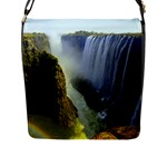 Victoria Falls Zambia Flap Closure Messenger Bag (Large)