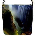 Victoria Falls Zambia Flap closure messenger bag (Small)