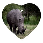 Wild Animal Rhino Ornament (Heart)