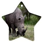 Wild Animal Rhino Ornament (Star)