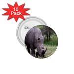 Wild Animal Rhino 1.75  Button (10 pack)