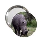 Wild Animal Rhino 2.25  Handbag Mirror
