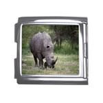 Wild Animal Rhino Mega Link Italian Charm (18mm)