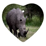 Wild Animal Rhino Heart Ornament (Two Sides)