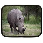 Wild Animal Rhino Netbook Case (XL)