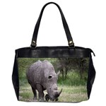 Wild Animal Rhino Oversize Office Handbag (Two Sides)