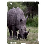 Wild Animal Rhino Apple iPad 3/4 Hardshell Case (Compatible with Smart Cover)