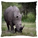 Wild Animal Rhino Large Cushion Case (Two Sides)