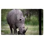 Wild Animal Rhino Apple iPad 2 Flip Case