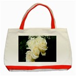 White Rose Classic Tote Bag (Red)