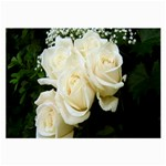 White Rose Glasses Cloth (Large, Two Sides)