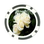 White Rose Poker Chip Card Guard