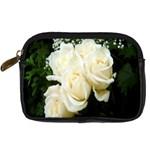 White Rose Digital Camera Leather Case