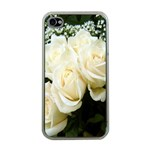 White Rose Apple iPhone 4 Case (Clear)