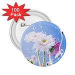 White Gerbera Flower Refresh From Rain 2.25  Button (100 pack)