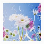 White Gerbera Flower Refresh From Rain Glasses Cloth (Medium, Two Sides)