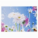 White Gerbera Flower Refresh From Rain Glasses Cloth (Large, Two Sides)