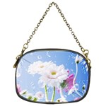 White Gerbera Flower Refresh From Rain Chain Purse (Two Sides)