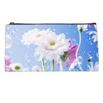 White Gerbera Flower Refresh From Rain Pencil Case