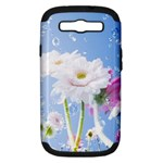 White Gerbera Flower Refresh From Rain Samsung Galaxy S III Hardshell Case (PC+Silicone)