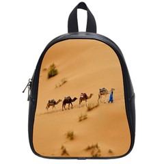 Western Sahara Desert Step To Success School Bag (Small) from DesignYourOwnGift.com Front