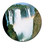 Zambia Waterfall Round Mousepad