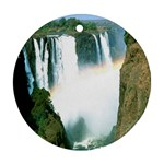 Zambia Waterfall Ornament (Round)