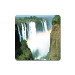 Zambia Waterfall Magnet (Square)