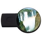 Zambia Waterfall USB Flash Drive Round (2 GB)