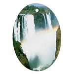 Zambia Waterfall Oval Ornament (Two Sides)