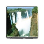 Zambia Waterfall Memory Card Reader with Storage (Square)