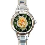 Yellow Rose Round Italian Charm Watch