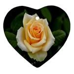 Yellow Rose Ornament (Heart)