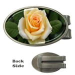 Yellow Rose Money Clip (Oval)
