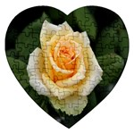 Yellow Rose Jigsaw Puzzle (Heart)