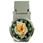 Yellow Rose Money Clip Watch