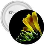 Yellow Freesia Flower 3  Button