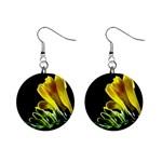 Yellow Freesia Flower 1  Button Earrings