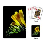 Yellow Freesia Flower Playing Cards Single Design