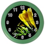 Yellow Freesia Flower Color Wall Clock