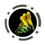 Yellow Freesia Flower Poker Chip Card Guard (10 pack)