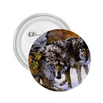 Wolf Family Love Animal 2.25  Button