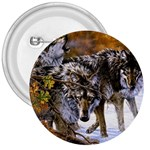Wolf Family Love Animal 3  Button