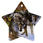 Wolf Family Love Animal Ornament (Star)