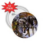 Wolf Family Love Animal 2.25  Button (10 pack)