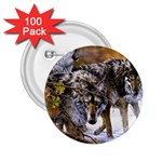 Wolf Family Love Animal 2.25  Button (100 pack)