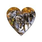Wolf Family Love Animal Magnet (Heart)